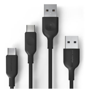 RAVPOWER 2-Pack USB A to USB C Charging Cables