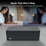 TAOTRONICS Rock Wireless Portable Stereo Speaker TT-SK12 (24-Hour Play Time, with Linen and Leather Covering)